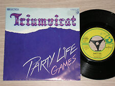 "TRIUMVIRAT - PARTY LIFE / GAMES - 45 GIRI 7"" GERMANY"