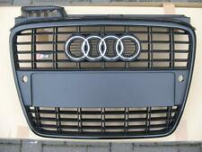 Audi A4 B7 original S4 grille grill with license plate holder - black color