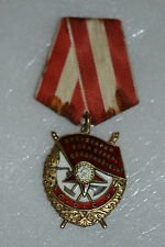 ORIGINAL SOVIET RUSSIAN  USSR BADGE ORDER OF THE RED BANNER