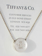 Tiffany & Co 1837 Concave Pendant 16 Inch Necklace