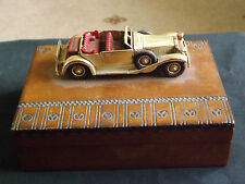 "MATCHBOX LESNEY  ""GIFT WARE"" SERIES MODEL CAR CIGARETTE/TRINKET/PLAYING CARD BOX"