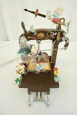 Enesco Santa's Printing Press Machine Multi-Action Mice Music Box Santa Clause