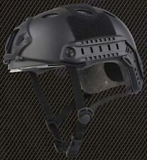 CASCO Airsoft PJ tipo Ops veloce Base Jump CASCO + VISIERA NERA Arco Rotaie