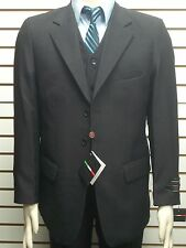 54R MENS 3PC DRESS SUIT NEW VESTED SUIT