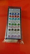 40 Pcs Silver Square Cz stud Earrings 5mm