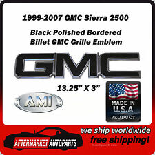 1999-2007 GMC Sierra 2500 Black Polished Border Front Grille Emblem AMI 96500KP