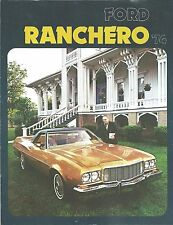 Sales Brochure for the 1974 Ford Ranchero   The Pickup Car ~ 3 Models