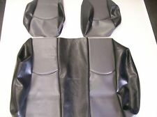 Club Car Precedent Golf Cart Deluxe Seat Covers-Front and Rear (Black & Gray)