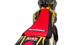 2008-2016 SUZUKI RMZ 450 Black/Red SEAT COVER GRIPPER STYLE BY Enjoy Mfg