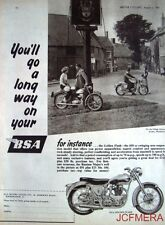 1957 Motor Cycle ADVERT - B.S.A. '650 Golden Flash' (£210 + P/Tax) Print AD