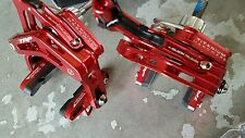 TRP R960 Titanium Alloy Caliper Brakes (PAIR) Road Bike (Anodised Red) NEW