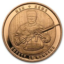 Cuivre Médaille Soldat 1 once - 1 Oz copper Mens and Arms