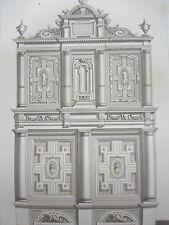 Crispin de PASSE 1642 motif 7 COLONNES LOUIS XII GRAVURE décoration ADAMS 19éme