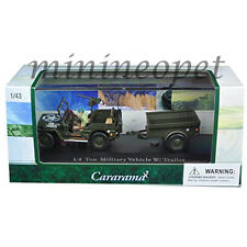 CARARAMA 14901 1/4 TON MILITARY VEHICLE With TRAILER & CASE 1/43 DIECAST GREEN
