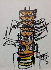 Wilfredo LAM (1902-1982) Original Litografía Ediciones Poligrafa 1979