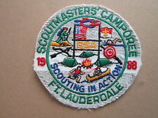 Scoutmasters Camporee 1988 Boy Scouts Scouting BSA Woven Cloth Patch Badge (L1K)