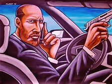 THE TRANSPORTER MOVIE PAINTING jason statham para ordinance pistol audi a8 w12