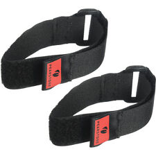 Pearstone 1 x 12 Touch Fastener Cinch Strap (Black, 2-Pack)