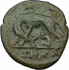 "Constantine I The Great Ancient Roman Coin Romulus & Remus ""Mother"" wolf  i35437"