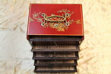 Boite chinoise simili cuir-bijoux-mah jong-Chinese box-scatola cinese-caja china