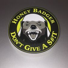 Honey badger bumper sticker - Rawr face vinyl