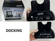 DOCK DOCKING STATION HARD DISK 3,5 2,5 SATA HDD 2 USB BOX CASE USB SD XD MS-MNT-