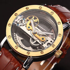 Skeleton Steampunk Bridge  Automatic Mechanical Sport Watch