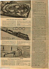 1970 ADVERTISEMENT Train Tyco Marx .027 Gauge N HO RideÉm Railroad Mighty Casey