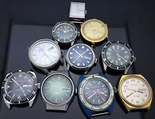 VINTAGE LOT OF 10 SEIKO, DIVERS & MORE WRISTWATCHES  FOR PARTS OR REPAIR