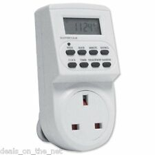 NUOVA elettronica Digitale Rete Timer Presa Plug-in con display LCD 12/24 Ora 7
