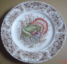 Johnson Brothers Windsor Ware WILD TURKEY NATIVE AMERICAN Dinner Plate 1950's