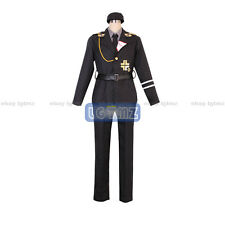 Axis Powers Hetalia Prussia Gilbert SS Uniform COS Cloth Cosplay Costume