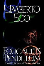 Foucault's Pendulum by Umberto Eco (1989, Hardcover)