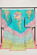 Uchikake kimono wedding robe j7081 Green,Pink,Purpul,Gold,White