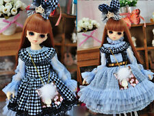 1/4 bjd msd girl doll blue color dress outfits dollfie luts minifee #SD-126M