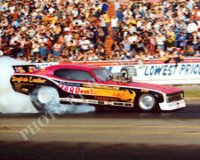 FUNNY CAR PHOTO ED McCULLOCH DRAG RACING FREMONT 1977 NHRA