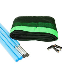 12ft Trampoline Net and (8) Pole Package - Green - Free Delivery