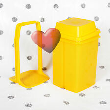 NEW Tupperware Pick a Deli Square Yellow Large Family size 2 Litre