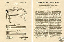 CRAPS TABLE US Patent Art Print READY TO FRAME! Vintage 1901 Dice gaming table