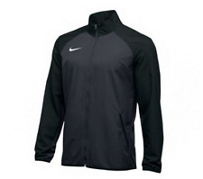 New Nike Men's L Woven Running Full Zip Training Jacket Team Grey Black $65