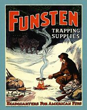 Trapping Vintage Magazine Poster Art  Antique Traps Supplies Catalog Furs MAG48