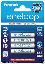 4 Pièces Panasonic Piles Rechargeables Eneloop Micro AAA/1,2V/min. 800mAh