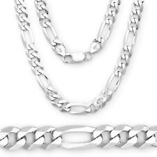 Men 2 mm Real Solid Italy Jewelry Silver Figaro Link Long Neck Chain To Lover