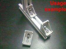 Aluminum T-slot profile 90 deg corner bracket 30x30-8mm + screw + T-nut, 8-set