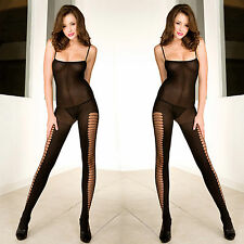Body Stocking Weiß Netz Body Catsuit Reizwäsche Gr.S-XL WY17