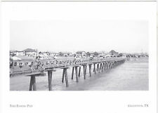 "~Post Card~/""Free Fishing Pier""-Galveston (destroyed 1961/Storm Carla-"