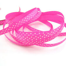 "5 Yards 3/8"" 9mm Pink color Printed Cute Grosgrain Ribbon for crafts making ZS1"