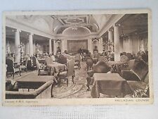EARLY Postcard CUNARD RMS AQUITANIA SHIP OCEAN LINER PALLADIAN LOUNGE INTERIOR