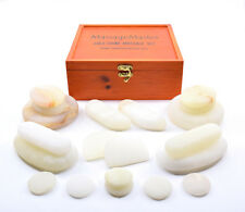 HOT STONE MASSAGE: MassageMaster 20-Piece Onyx Marble Cold Stone Set