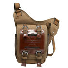 Retro Men's Canvas Leather Shoulder Messenger Satchel school Travel Hiking Bags
